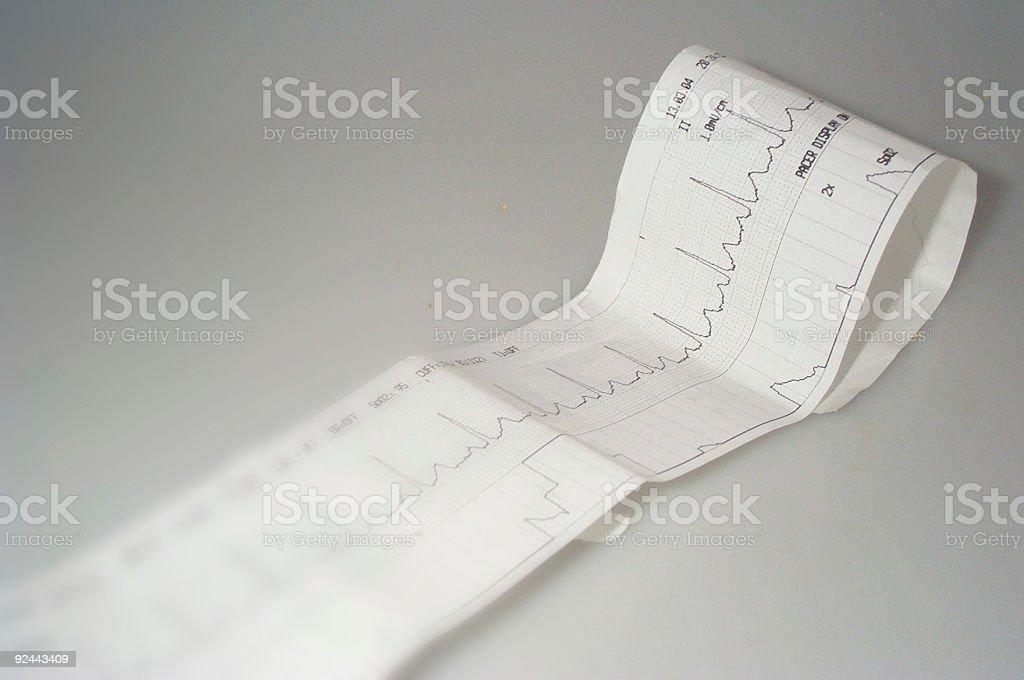EKG Strip royalty-free stock photo