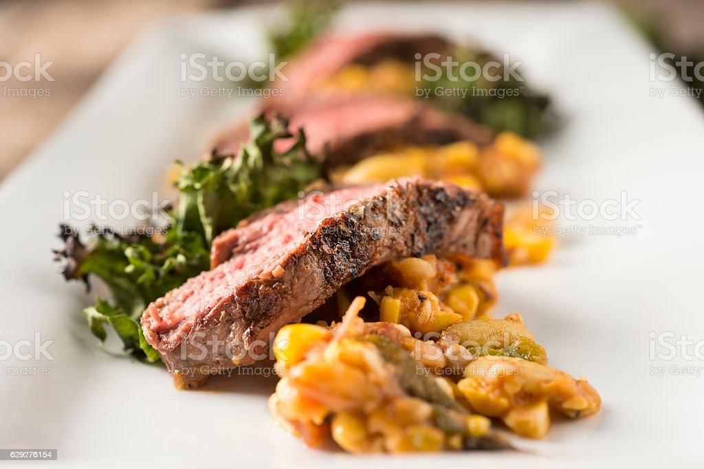 Strip Steak Appetizer stock photo
