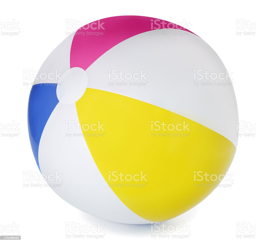 Striped Beach Ball stock photo
