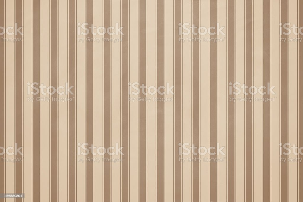 Striped beige wall paper stock photo