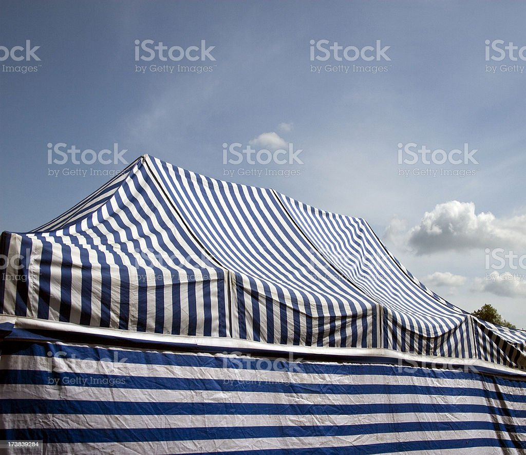 Striped circus tent royalty-free stock photo
