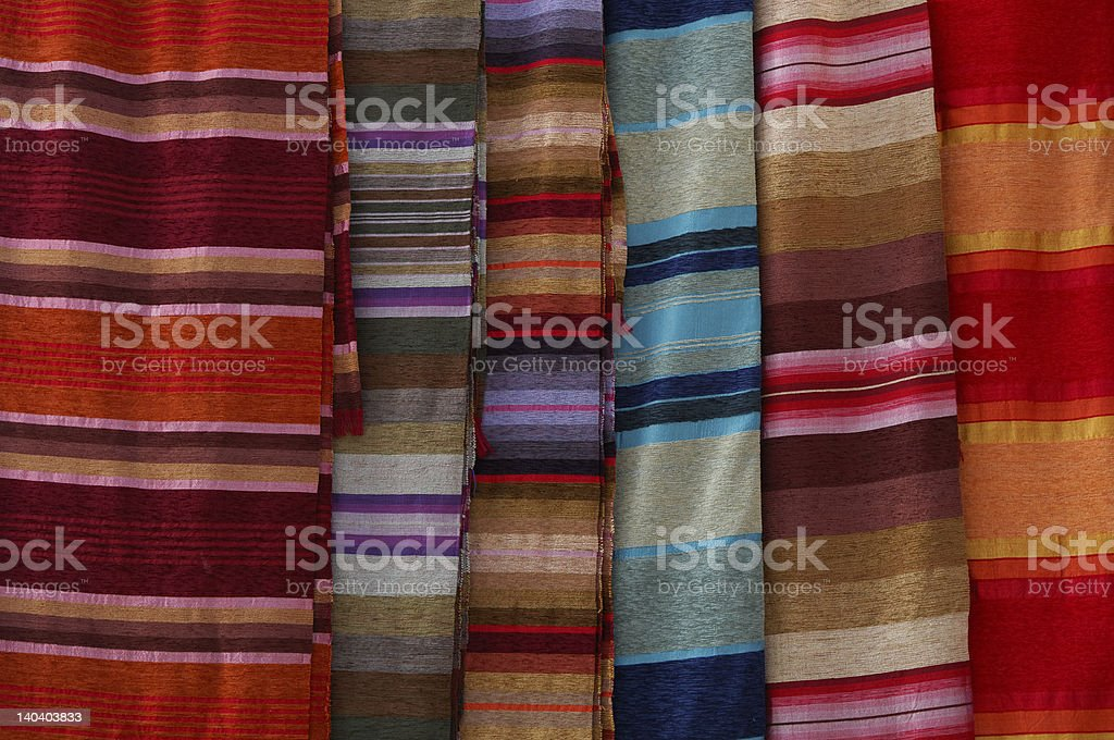 striped colored fabric royalty-free stock photo