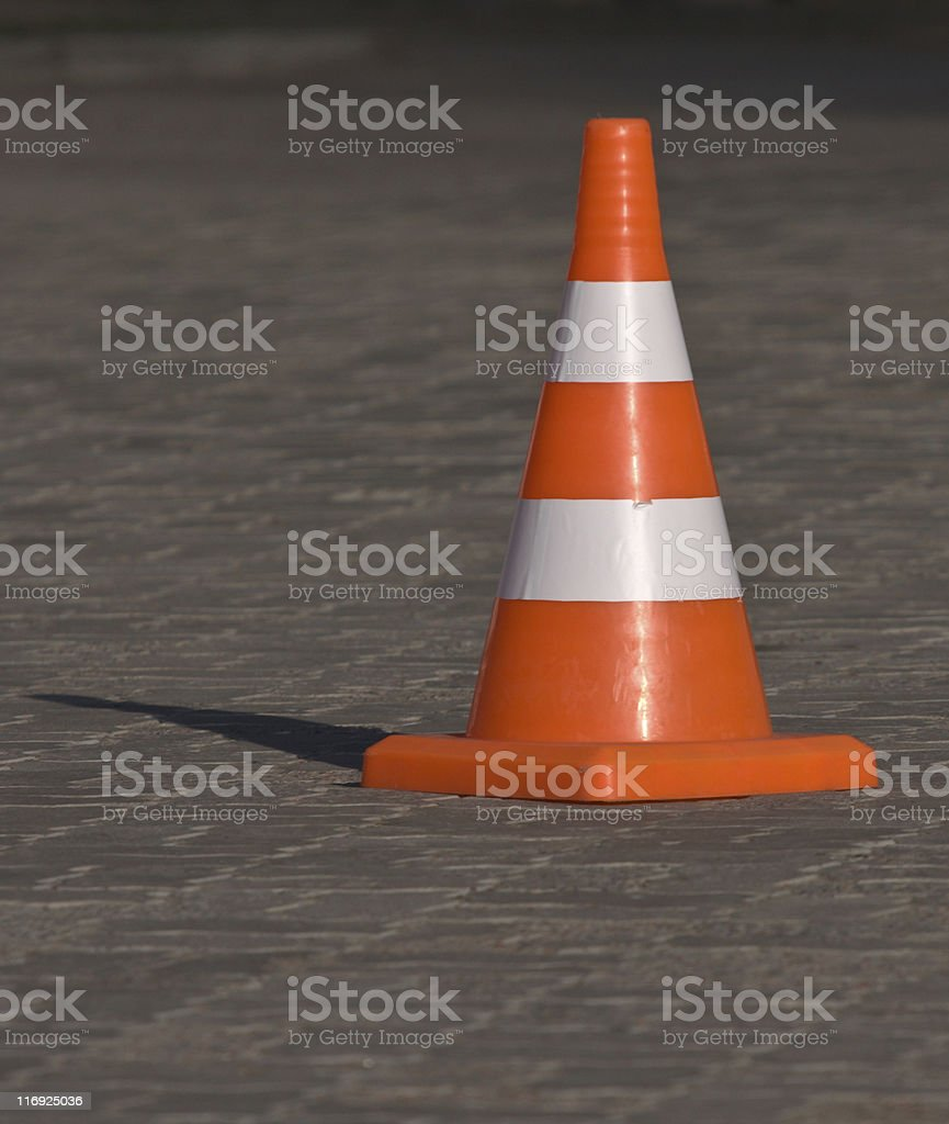 Striped Cone royalty-free stock photo