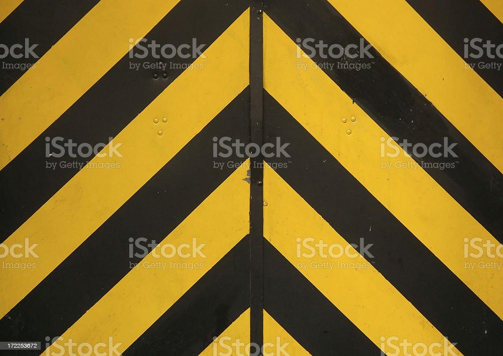 Striped Door royalty-free stock photo