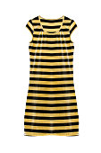 Striped dress isolated