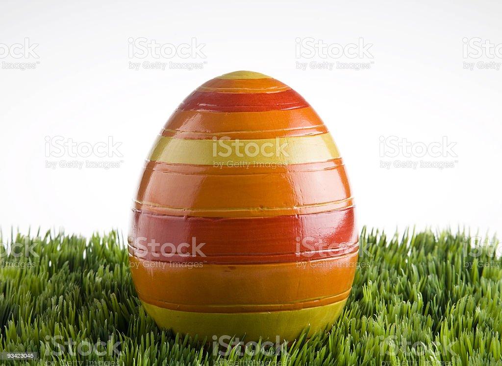 striped egg royalty-free stock photo