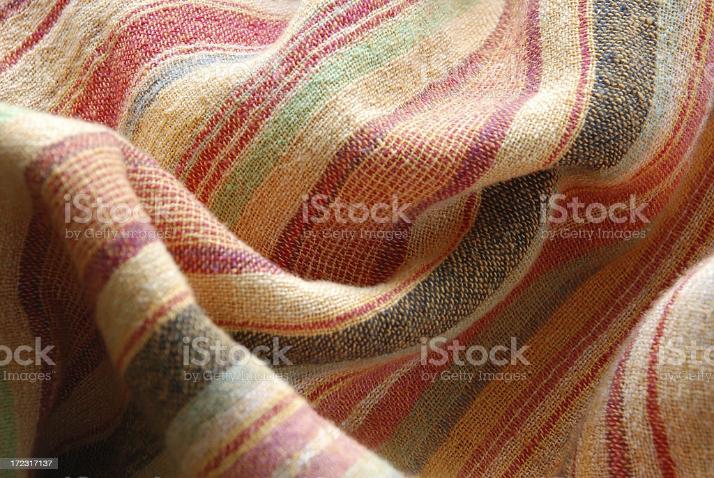 Striped Fabric Background royalty-free stock photo