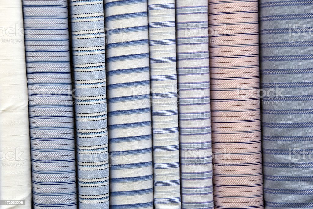 Striped fabric rolls royalty-free stock photo