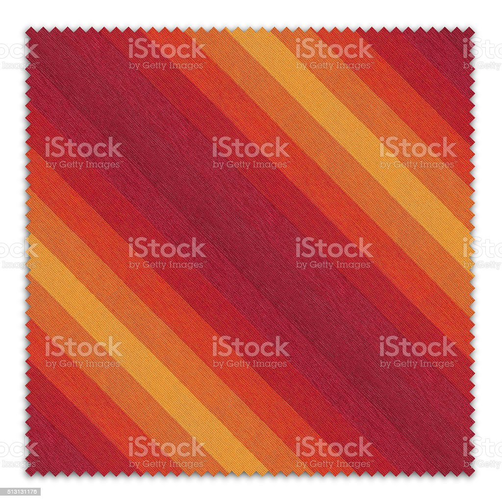 Striped Fabric Swatch  (Clipping Path) stock photo