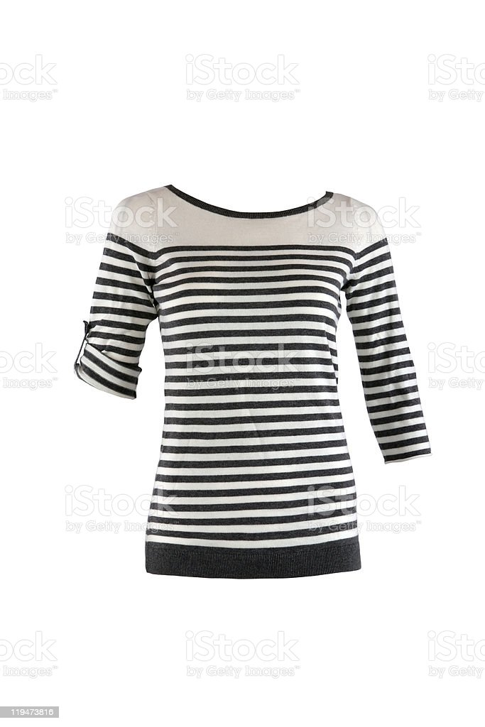 Striped female shirt royalty-free stock photo