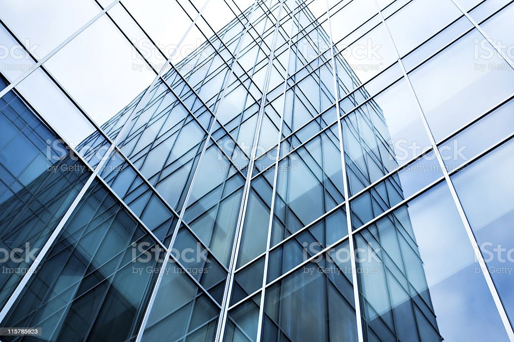 striped glass wall royalty-free stock photo