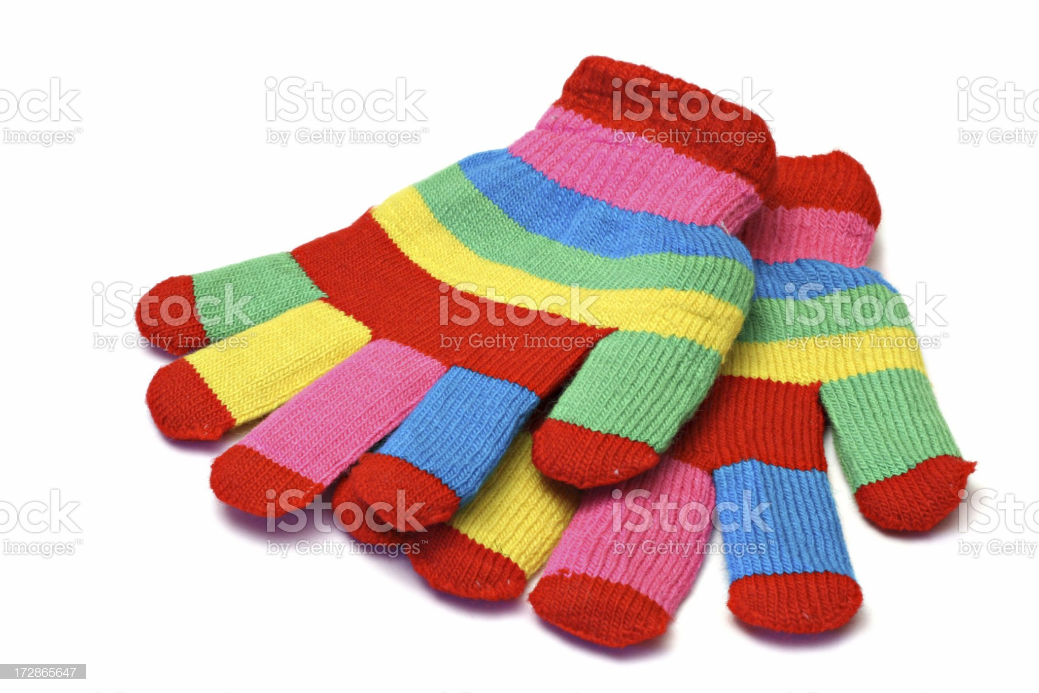 striped gloves royalty-free stock photo