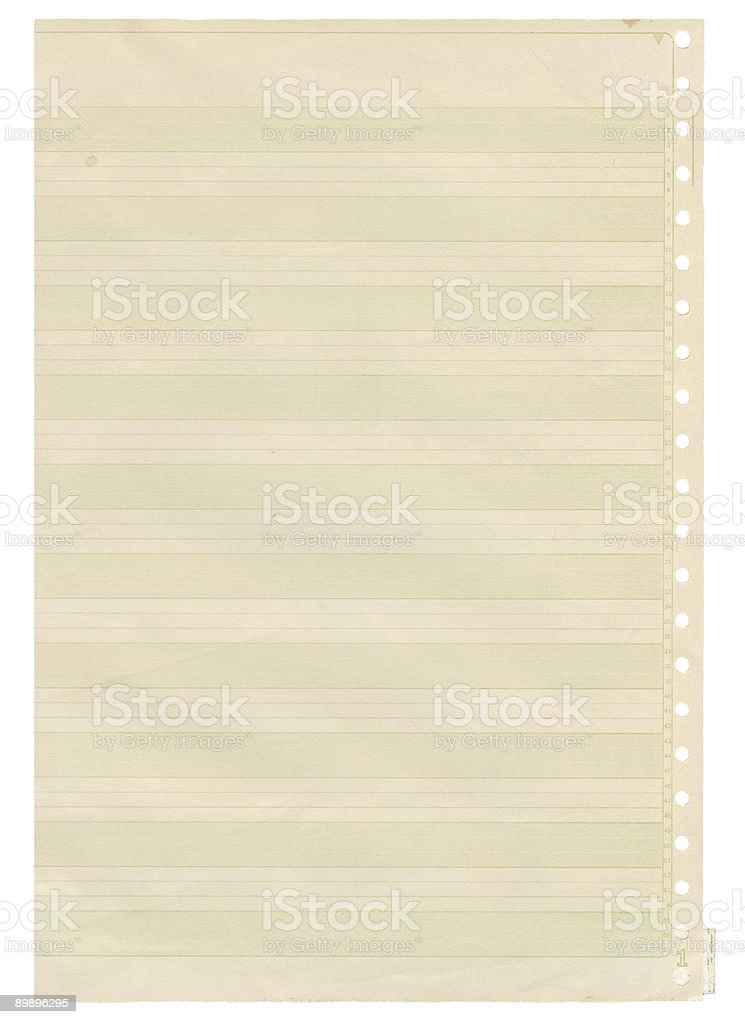 Striped High resolution background of old computer printer paper stock photo