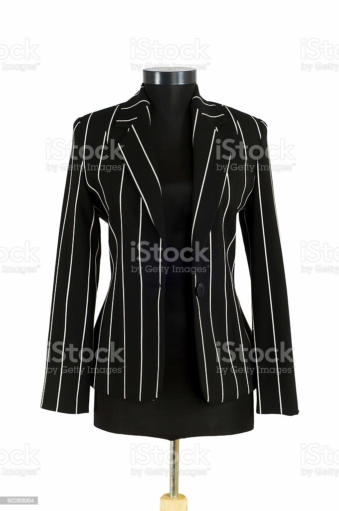 Striped jacket isolated on the white background royalty-free stock photo