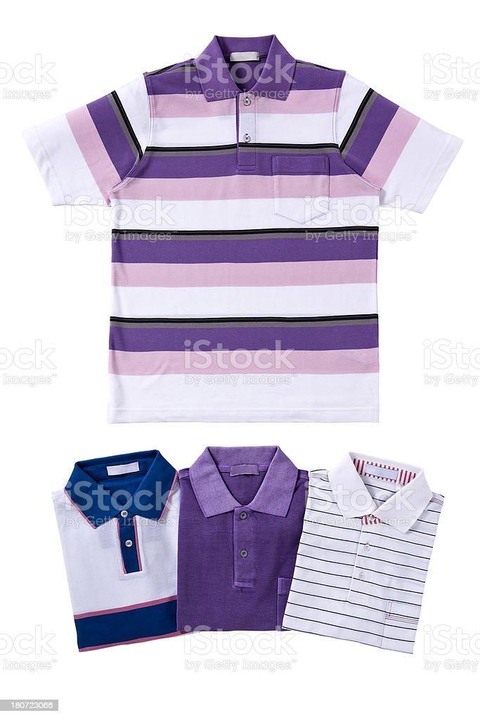 striped men's t-shirts stock photo