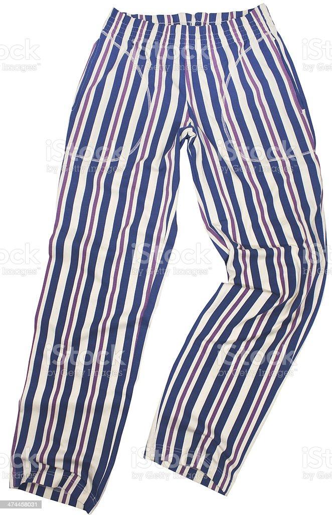 Striped pijama sweatpants stock photo