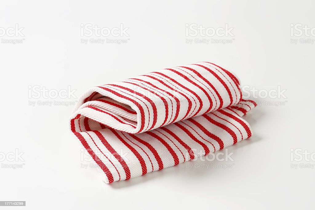 striped placemat stock photo