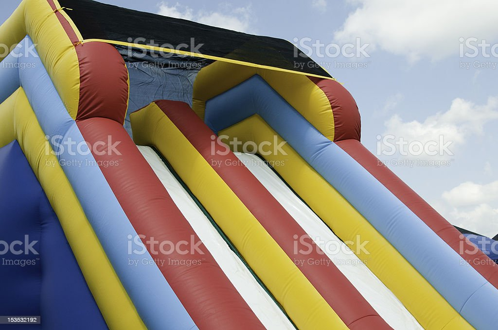 striped plastic slide stock photo