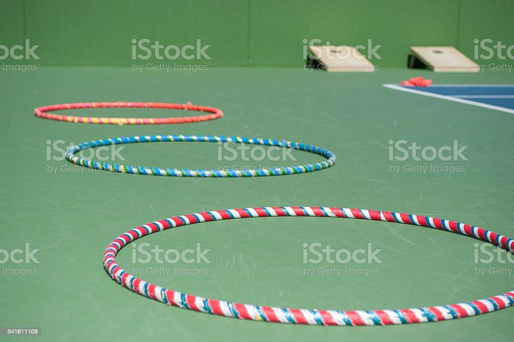 striped rings of fun stock photo