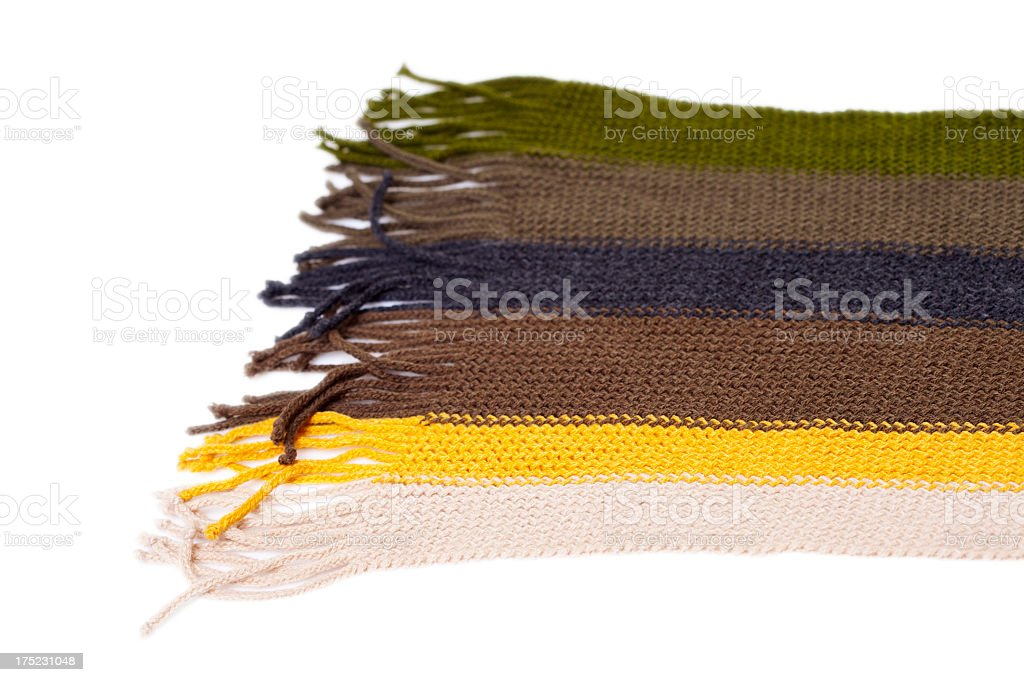 Striped scarf royalty-free stock photo
