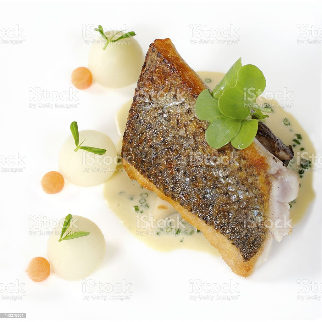 Striped Sea Bass royalty-free stock photo