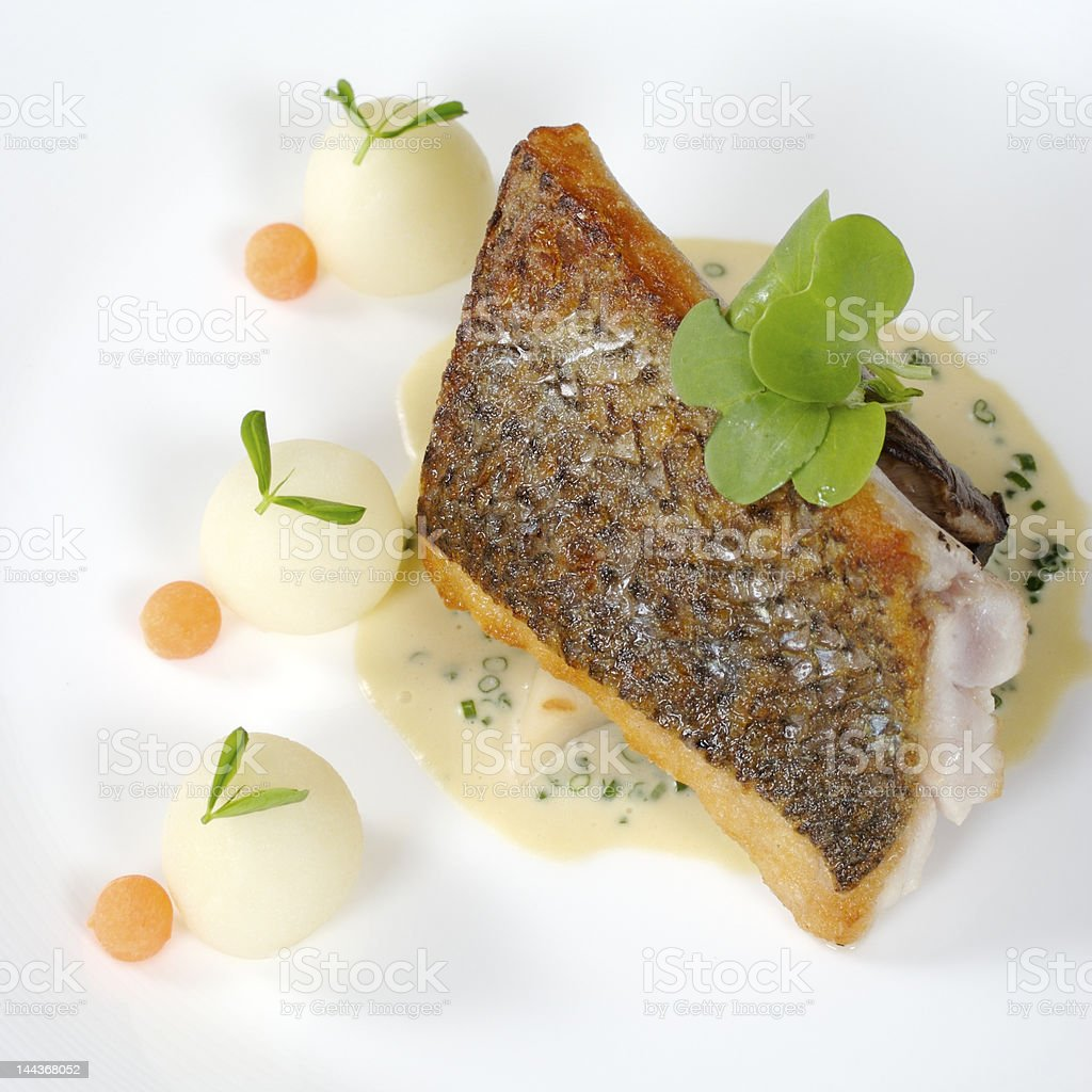 Striped Sea Bass royalty-free stock photo