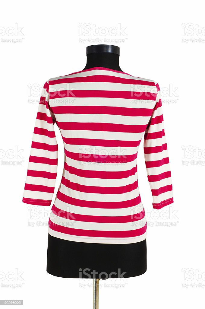 Striped shirt isolated on the white background stock photo