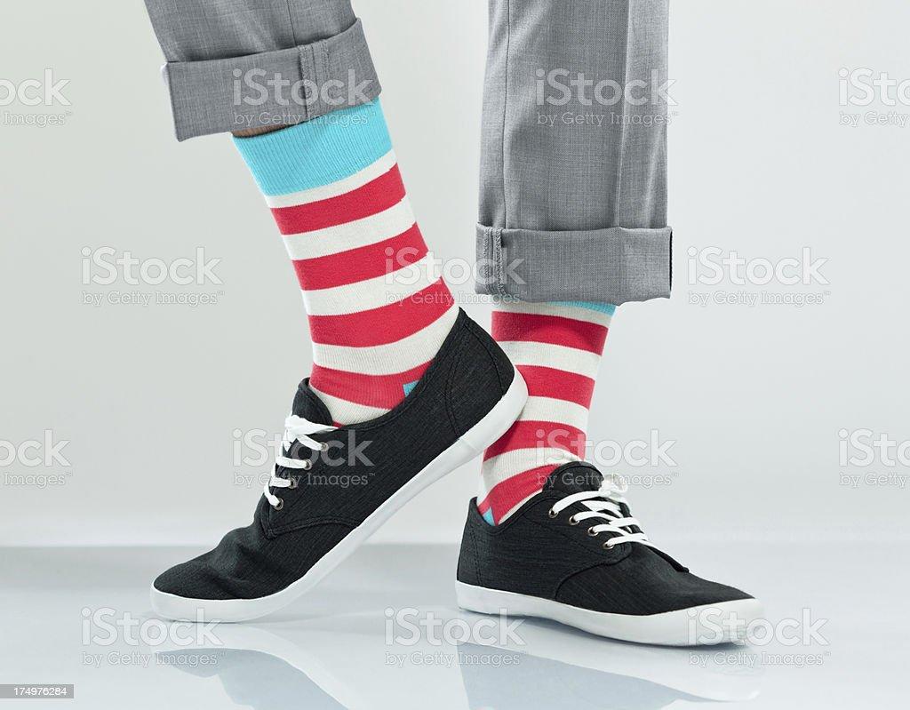Striped socks stock photo