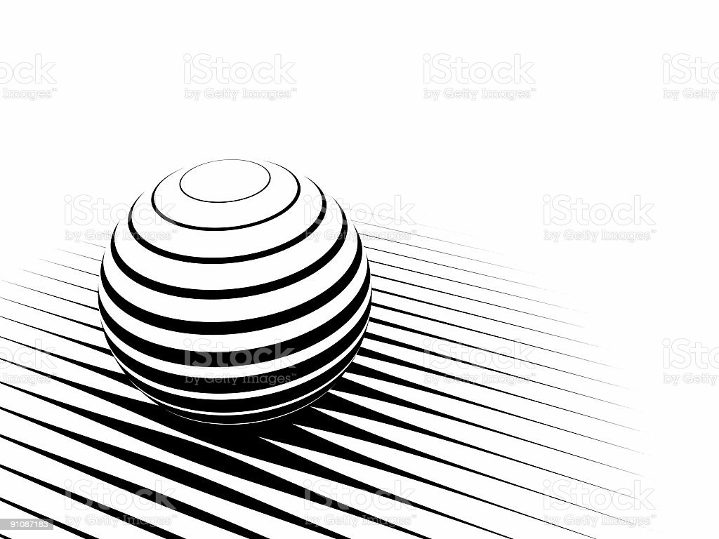 Striped sphere royalty-free stock photo