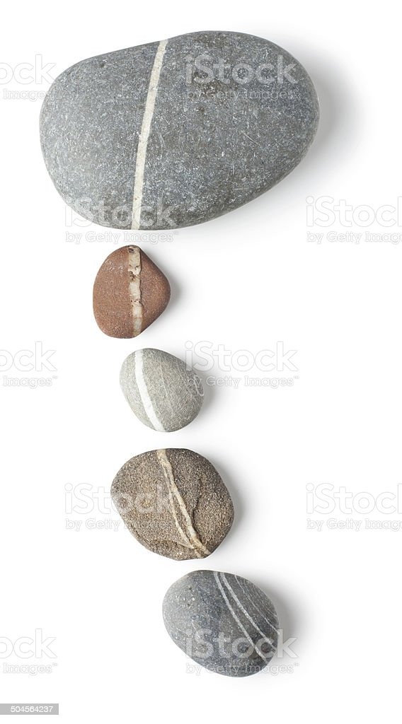Striped stone curve royalty-free stock photo