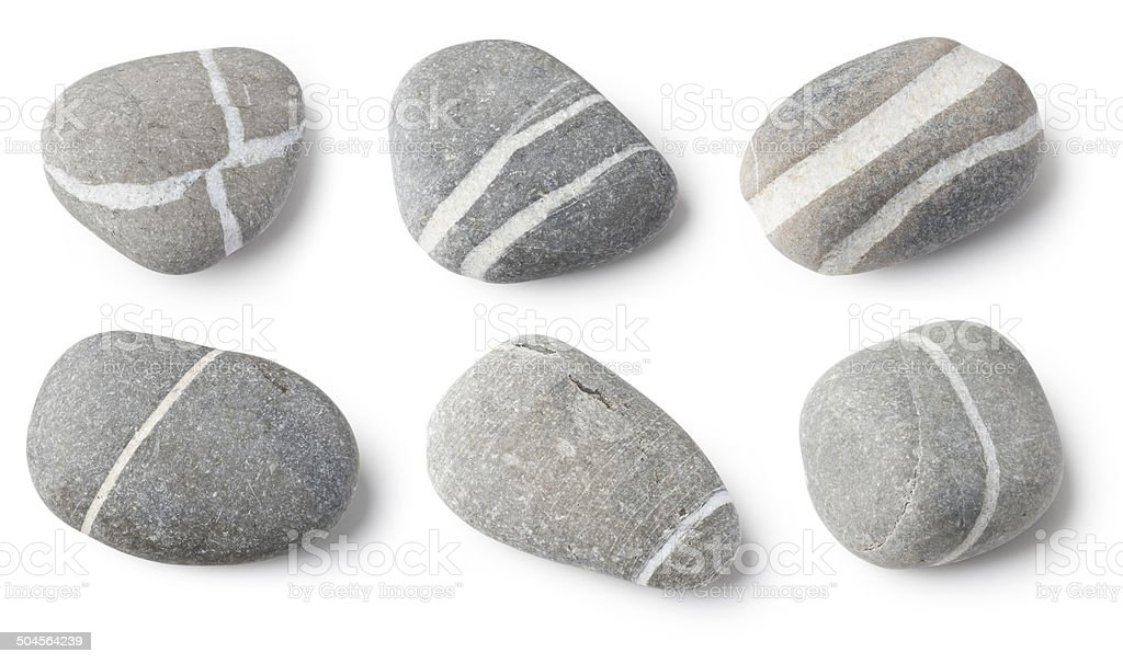 Striped stones royalty-free stock photo