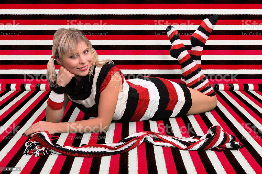 Striped style royalty-free stock photo