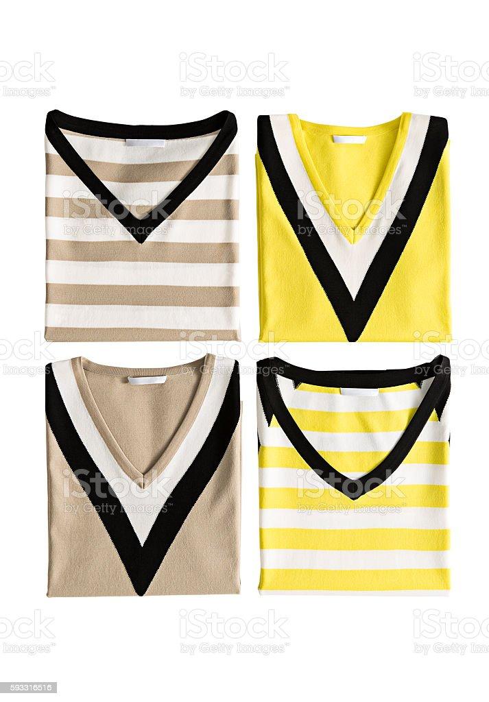 striped sweaters stock photo