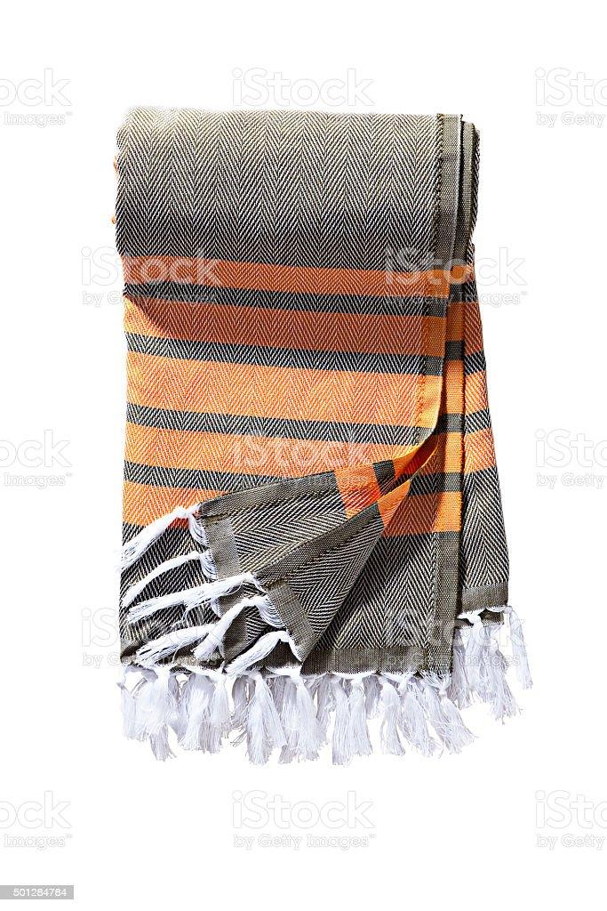 striped towel stock photo