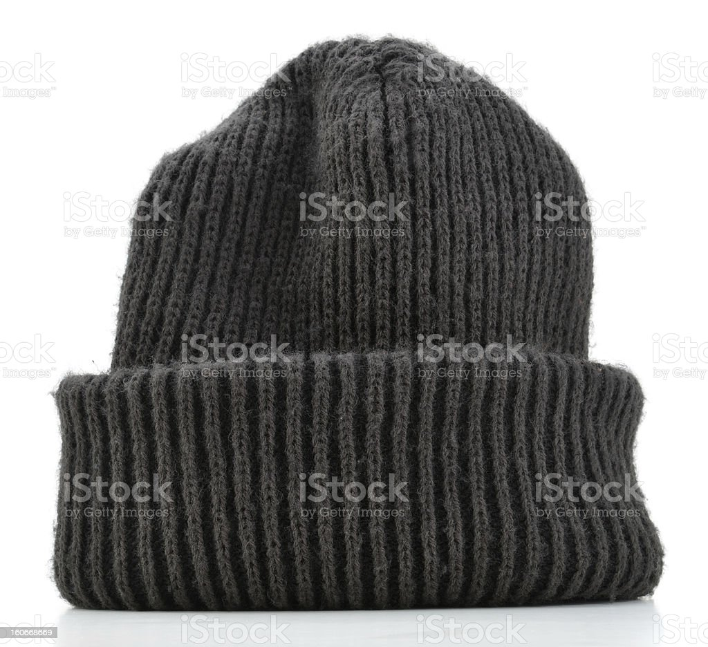 Striped Wool Beanie stock photo