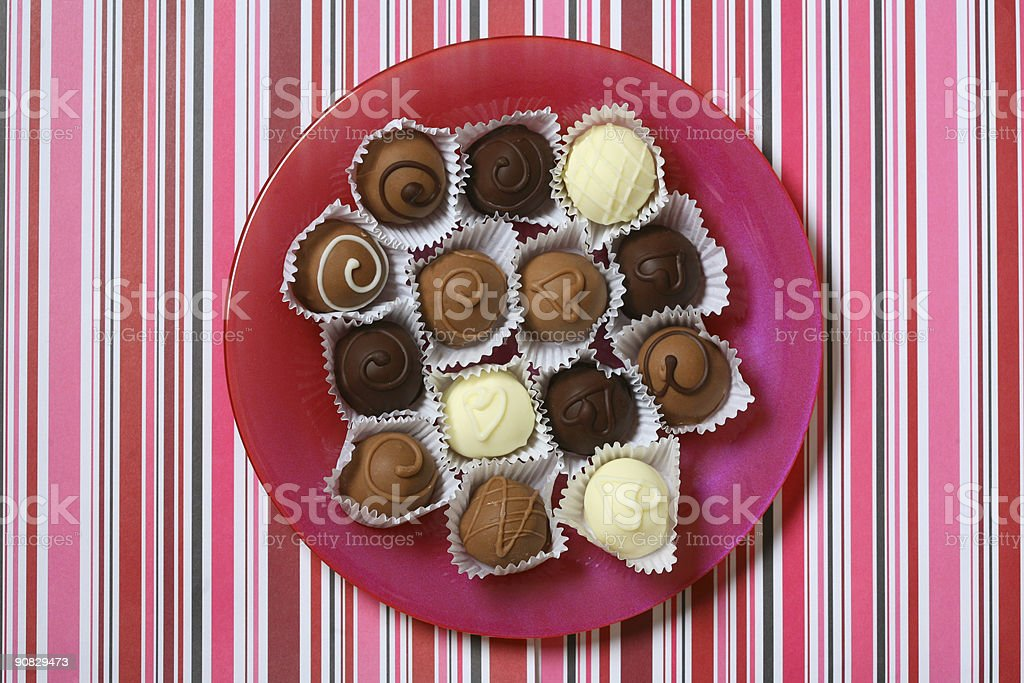 Stripes and truffles royalty-free stock photo