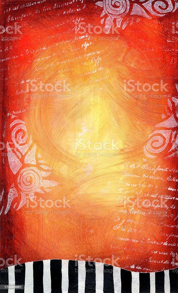 Stripes, Swirls and Writing royalty-free stock photo
