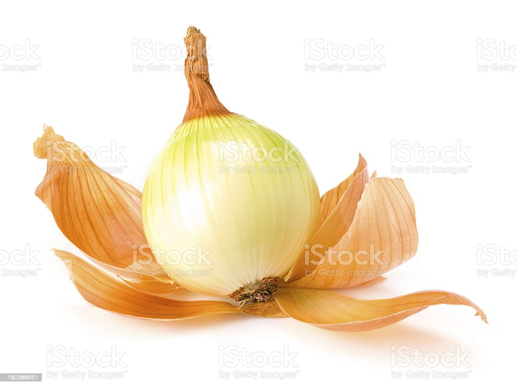 stripped onion royalty-free stock photo
