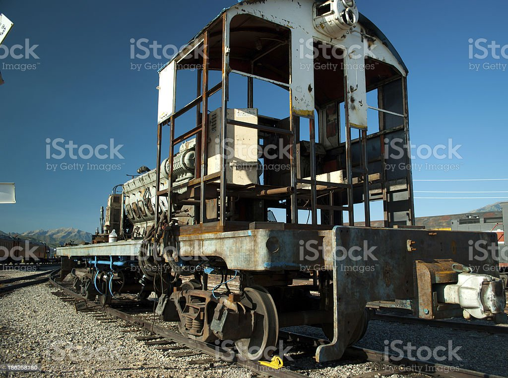 Stripped Train Locomotive stock photo