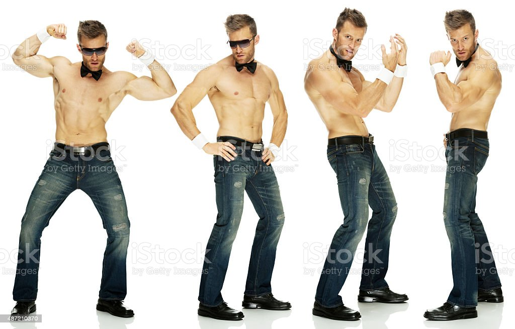 Stripper dancing stock photo