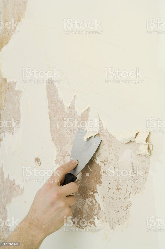 Stripping wallpaper royalty-free stock photo