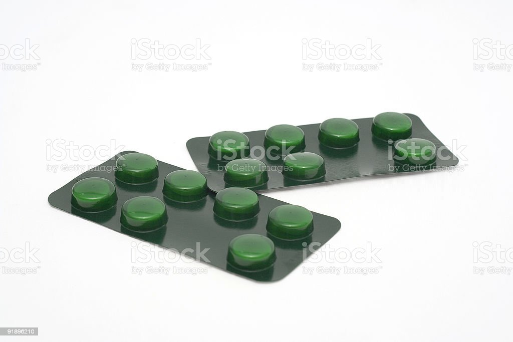 Strips of Pre Packed Pills stock photo