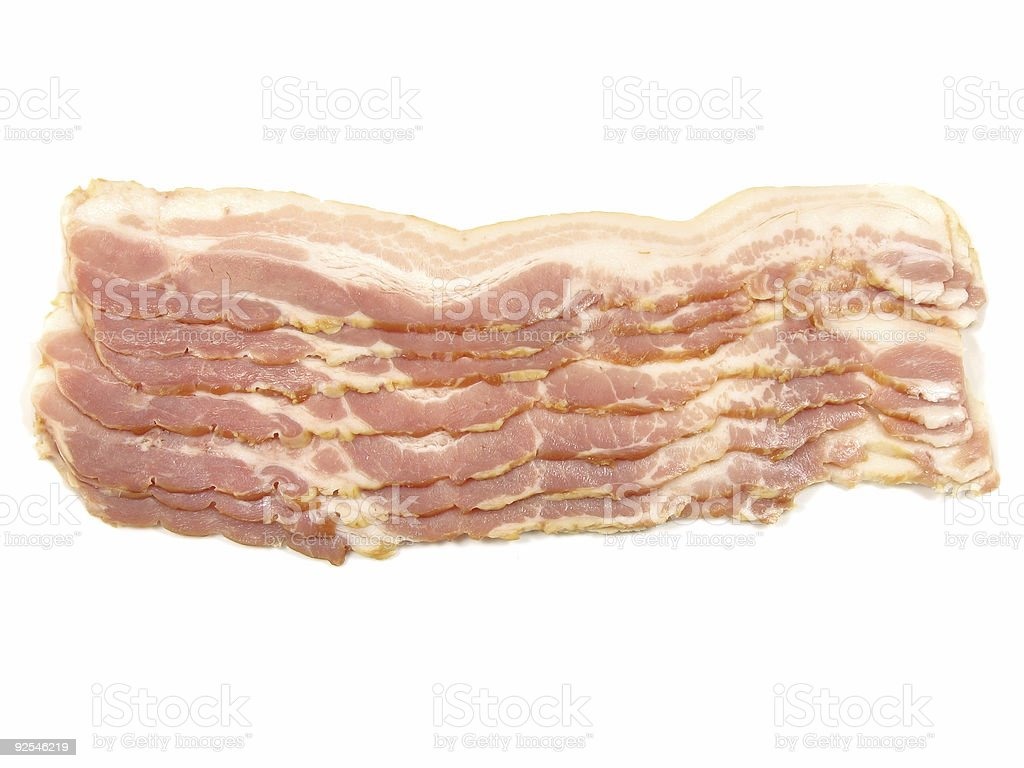 Strips of smoked bacon royalty-free stock photo