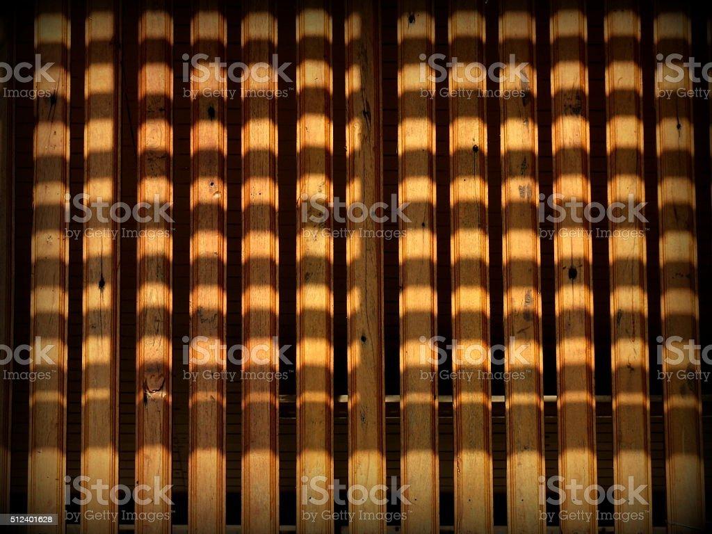 Strips shadow of wood  lath stock photo