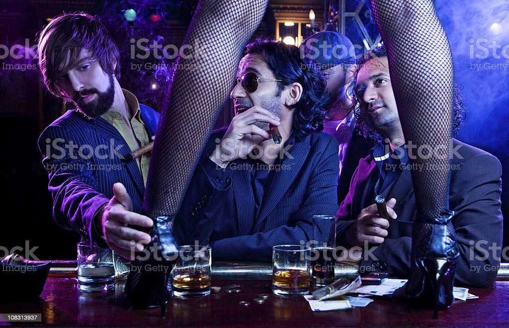 striptease in night club stock photo