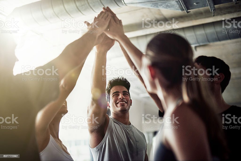 Striving for fitness excellence stock photo