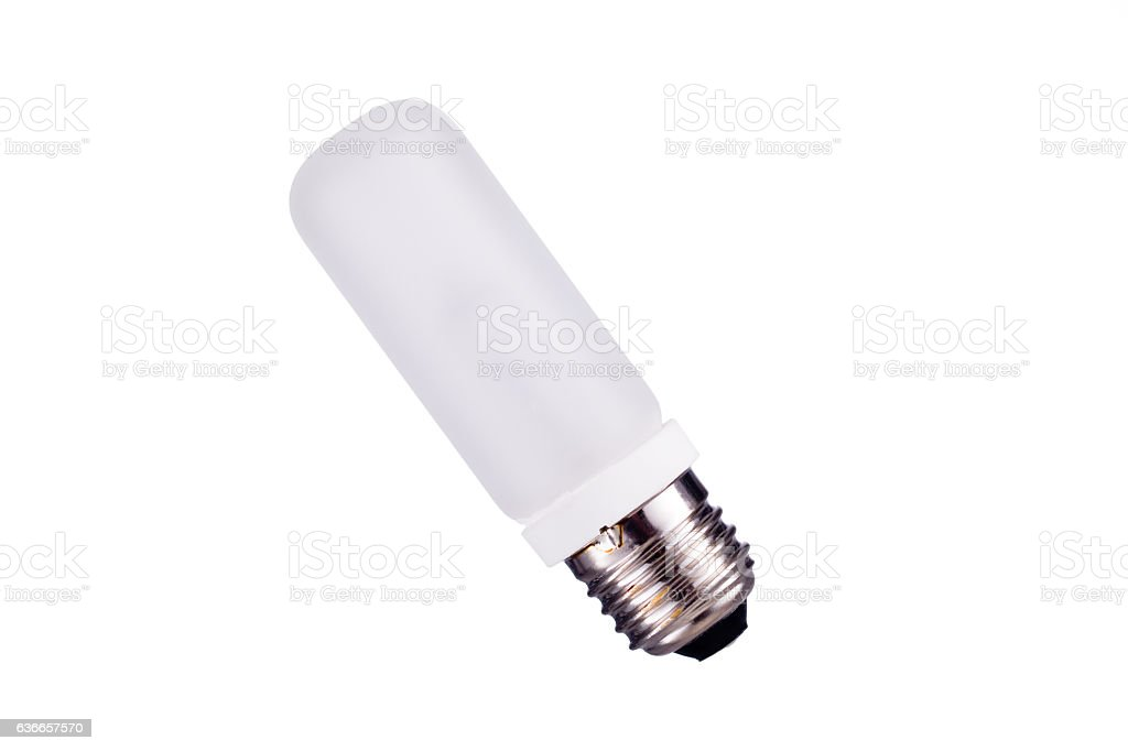 E27 Strobes lightbulb isolated on white background stock photo