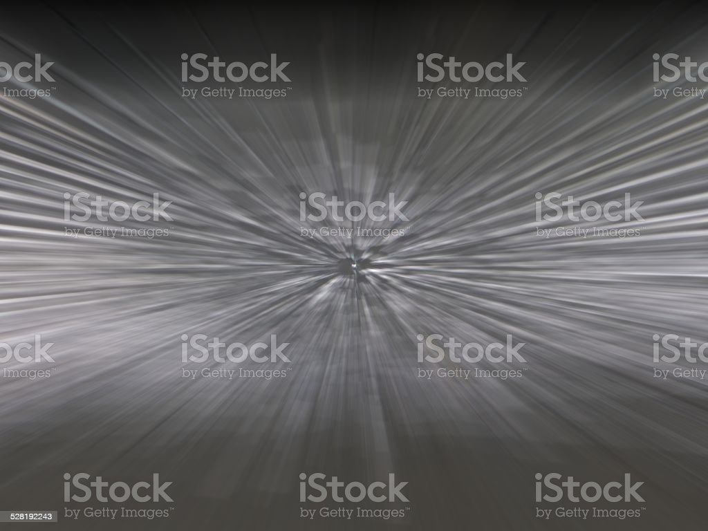 Strobing grey lines from distant point stock photo