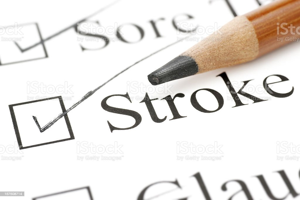 stroke health care check list royalty-free stock photo