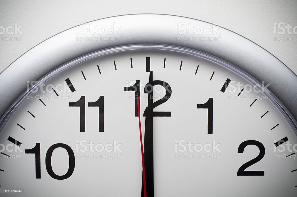 Stroke of noon or midnight royalty-free stock photo